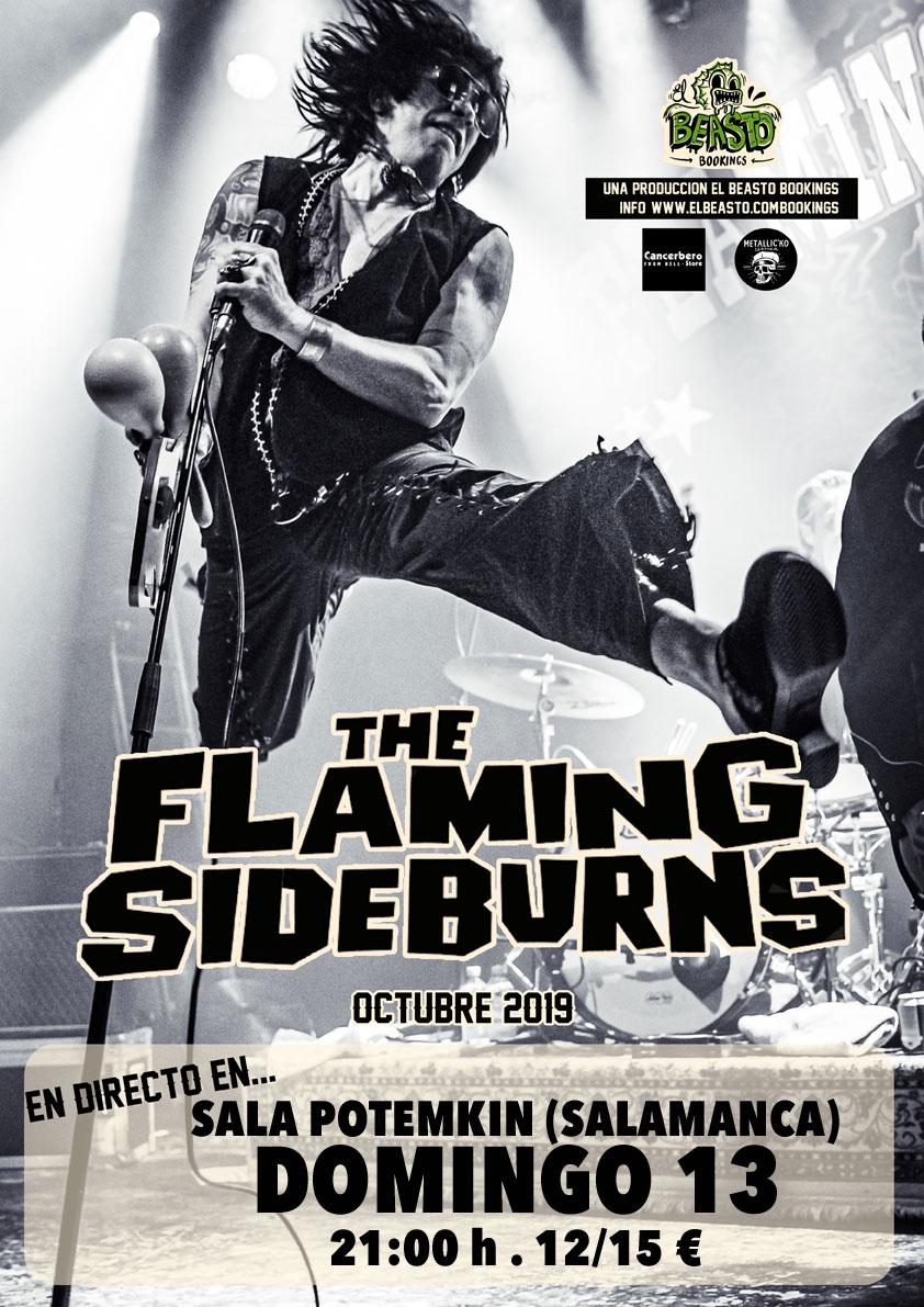 THE FLAMING SIDEBURNS ☆ En gira octubre 2019 Cartel47