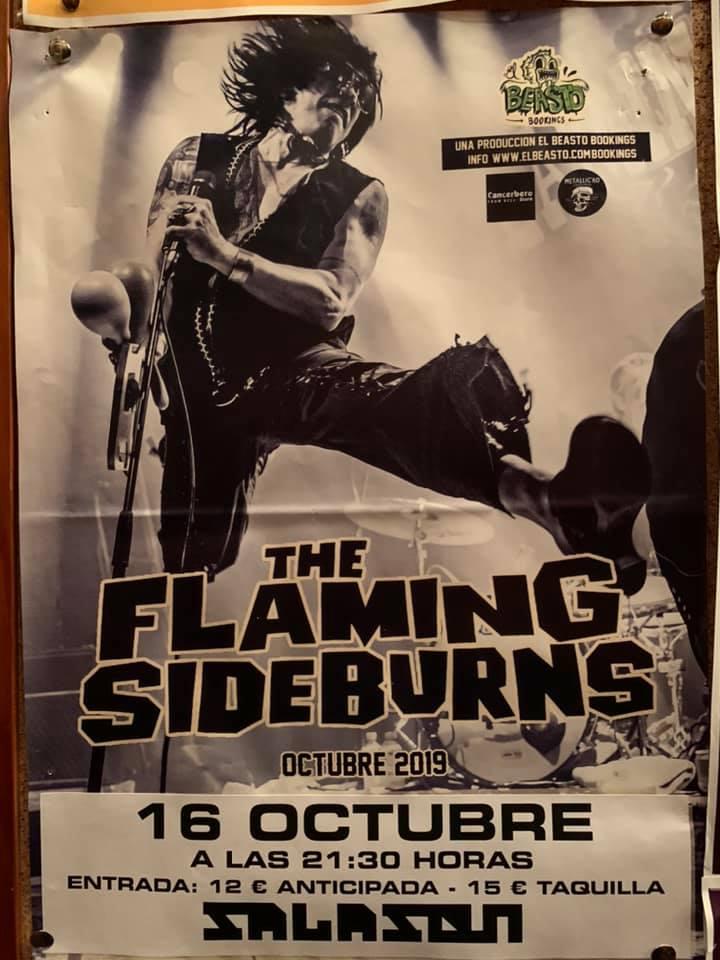 THE FLAMING SIDEBURNS ☆ En gira octubre 2019 Cartel49