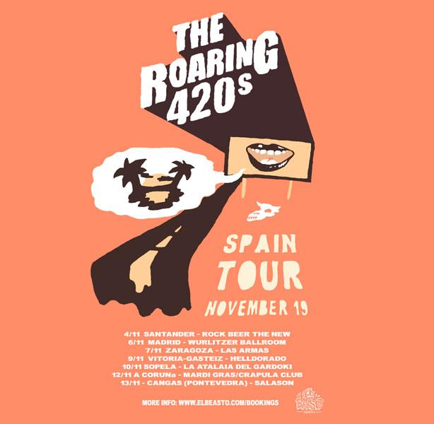 THE ROARING 420s ☆ En gira noviembre 2019 Promow56