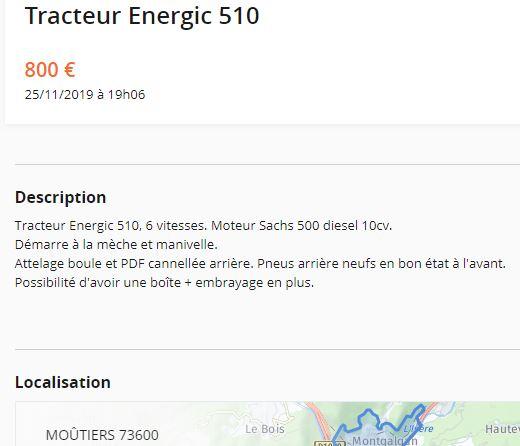 energic - A vendre motoculteur ENERGIC 410+tracteur ENERGIC 510 0_4100