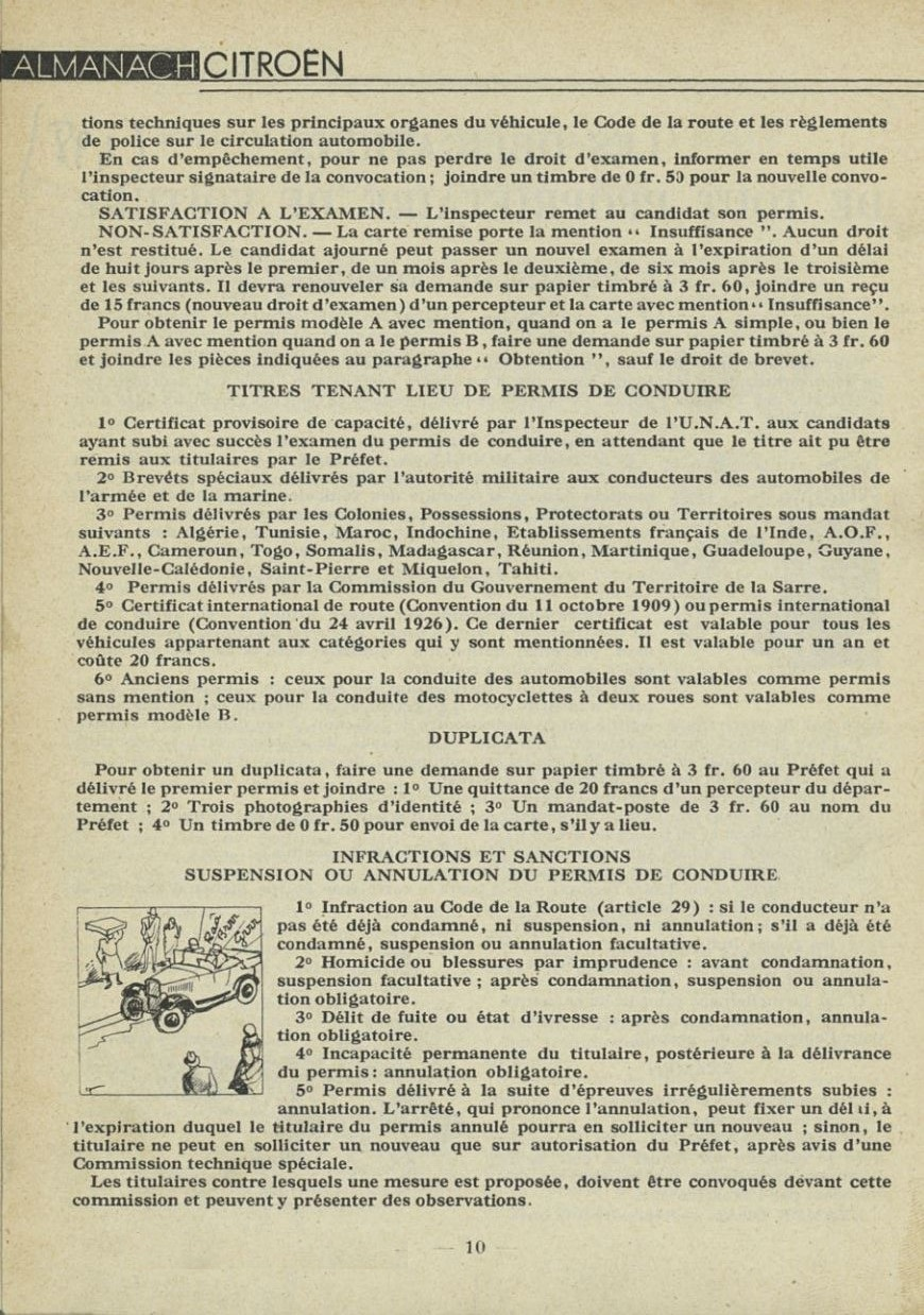 ALMANACH  CITROËN 1932 10340