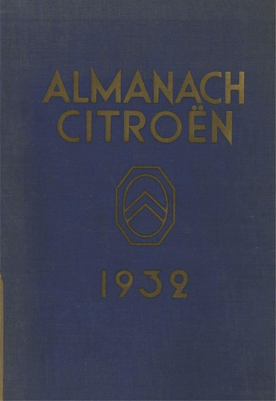 ALMANACH  CITROËN 1932 11560