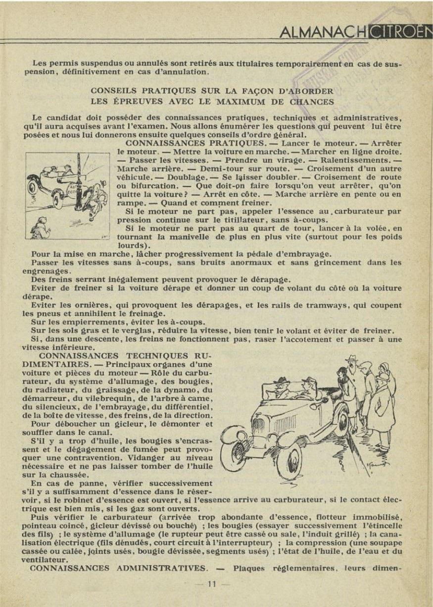 ALMANACH  CITROËN 1932 11561