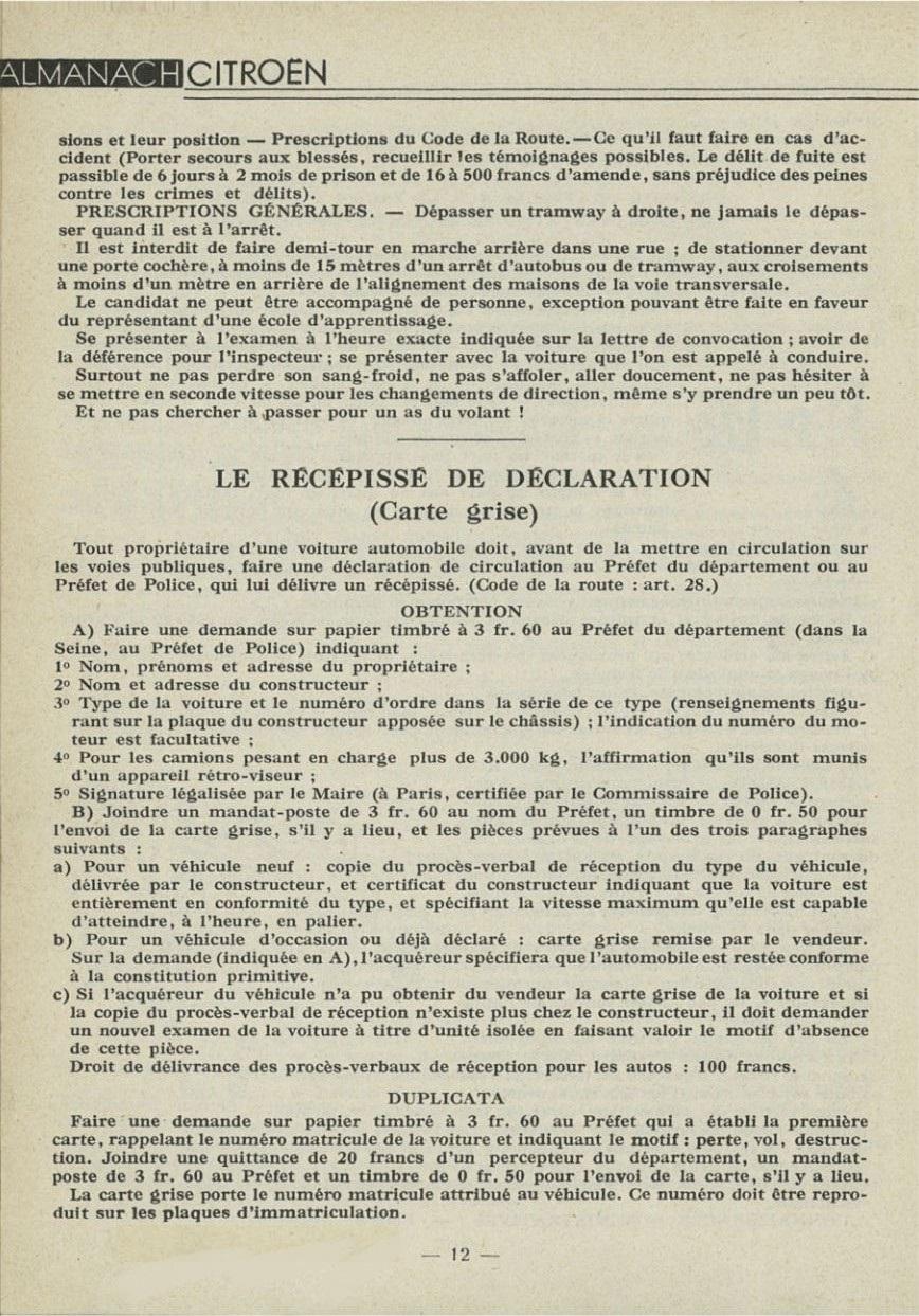 ALMANACH  CITROËN 1932 12313
