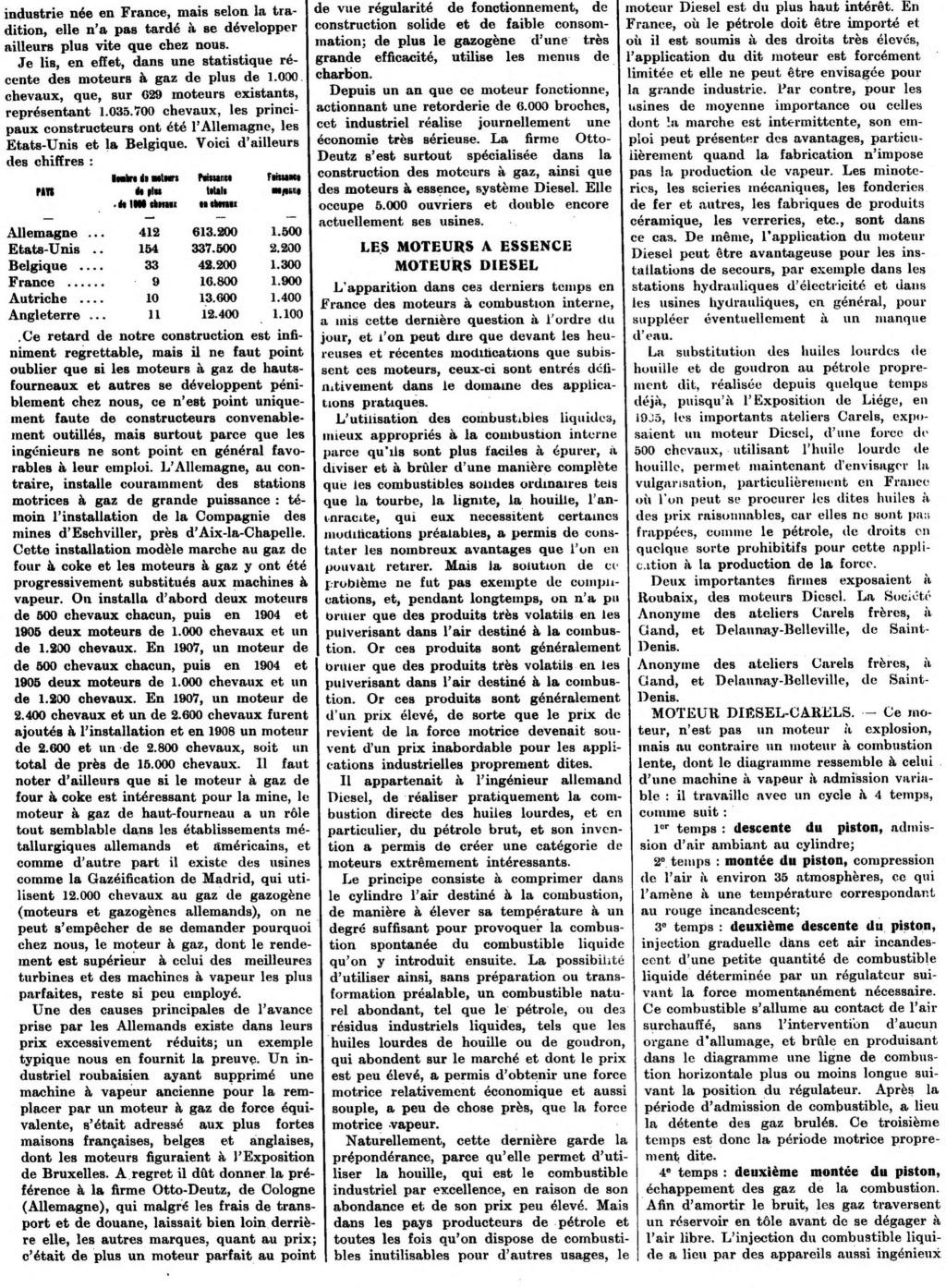 Les moteurs industriels: article de 1913 1451