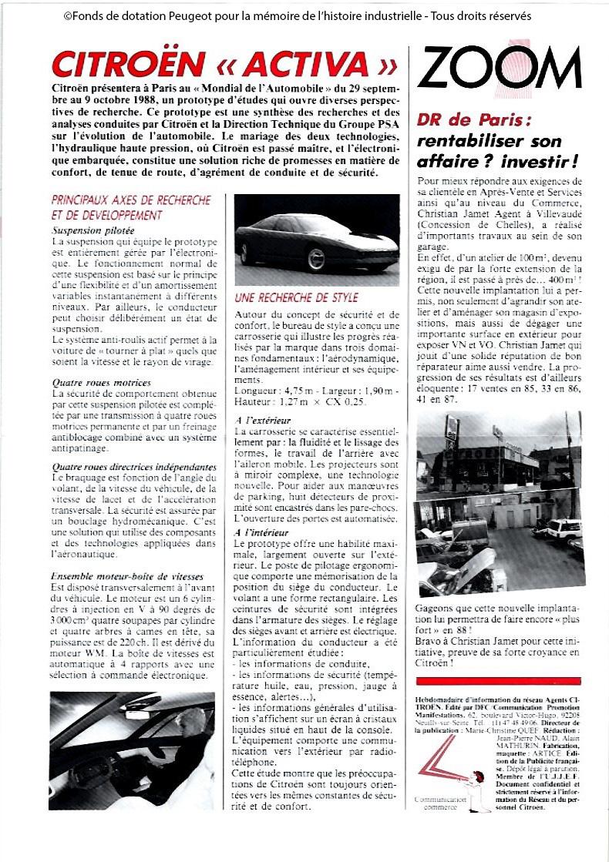 Concept-car CITROËN ACTIVA 1988 15161