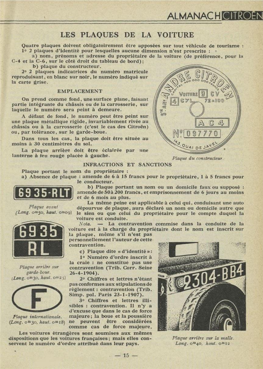 ALMANACH  CITROËN 1932 15263