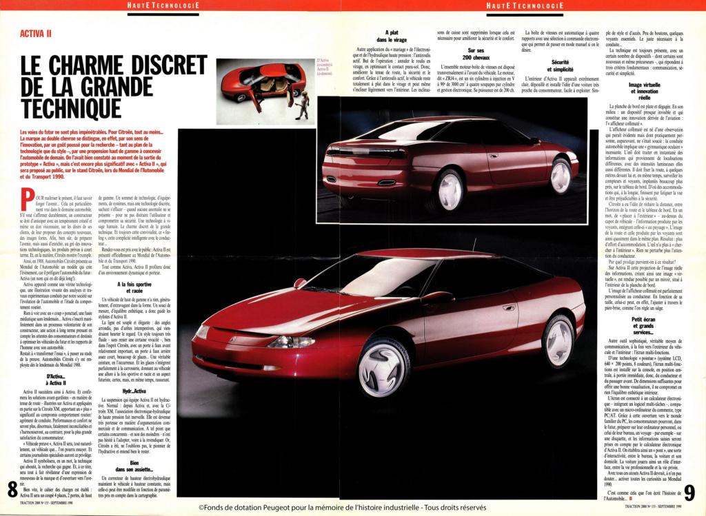 Concept-car CITROËN ACTIVA 1988 16154