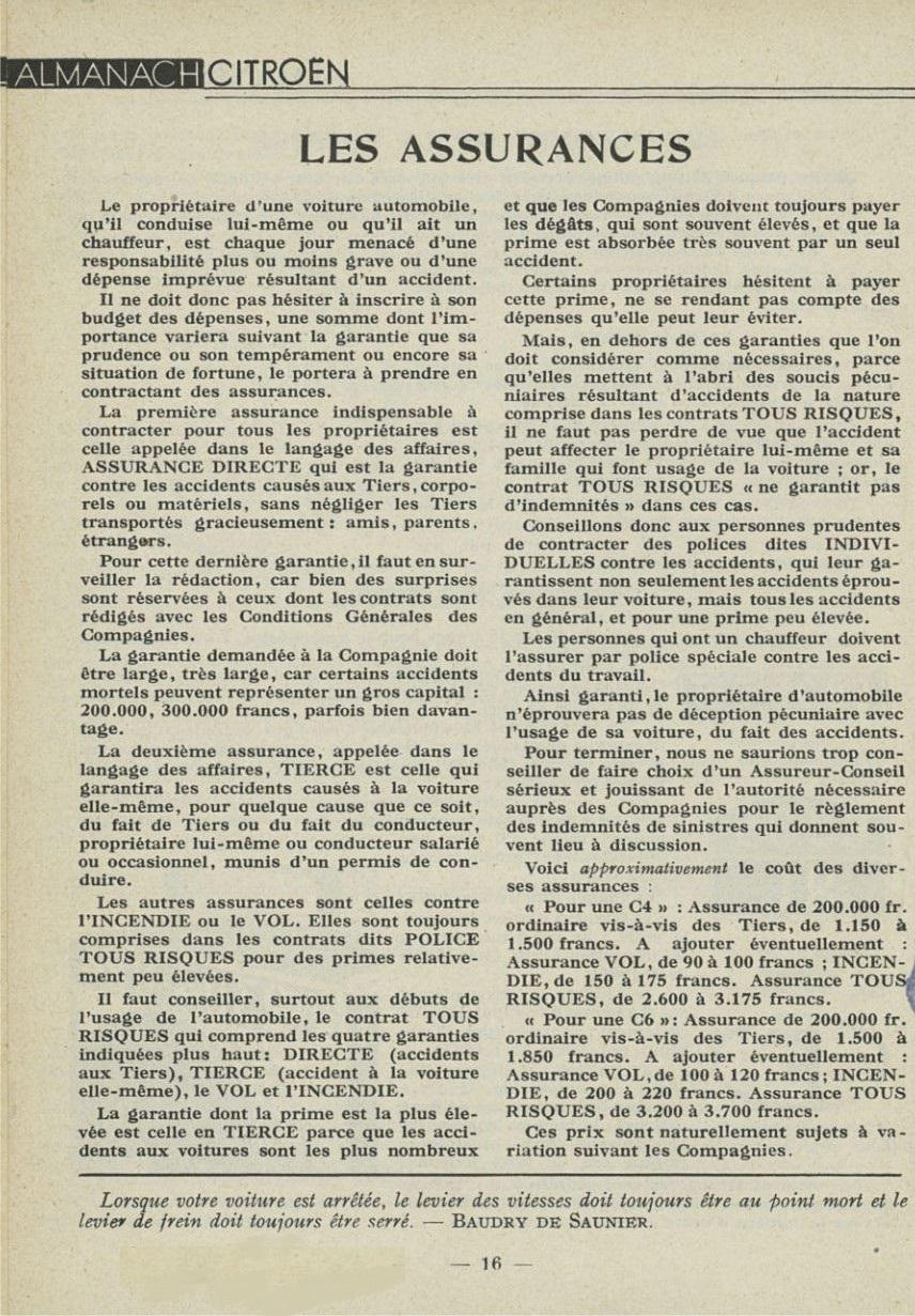 ALMANACH  CITROËN 1932 16259