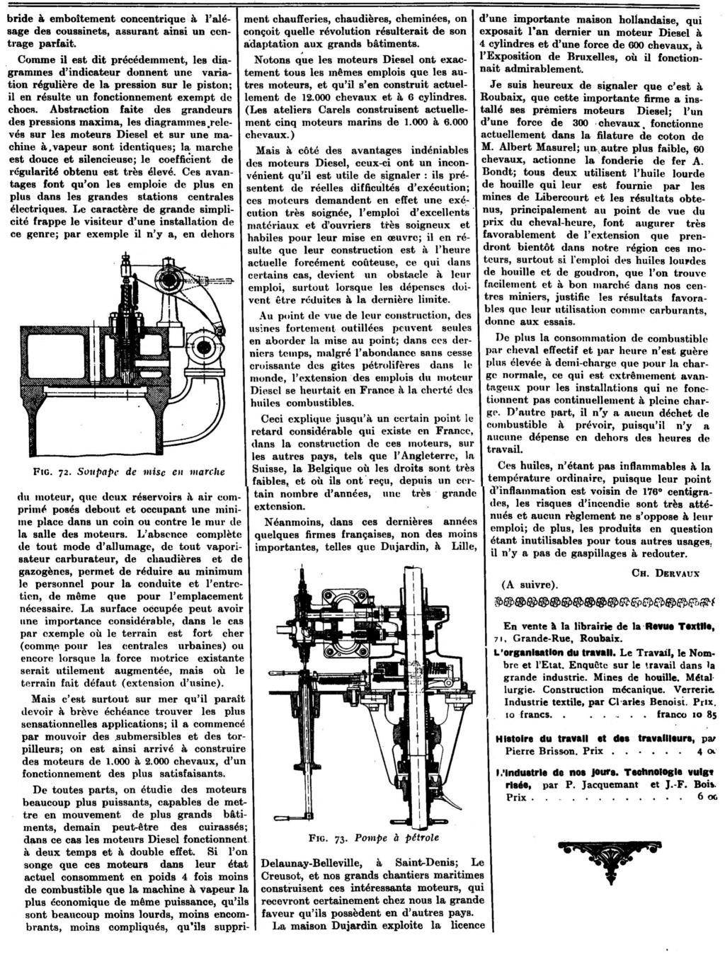 Les moteurs industriels: article de 1913 1640