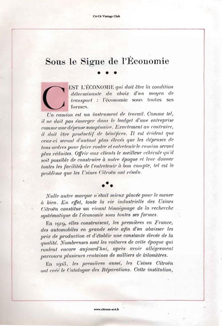 Réclame CAMIONS CITROËN Février 1931 1644