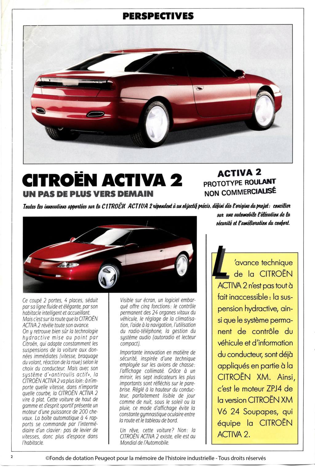 Concept-car CITROËN ACTIVA 1988 17118