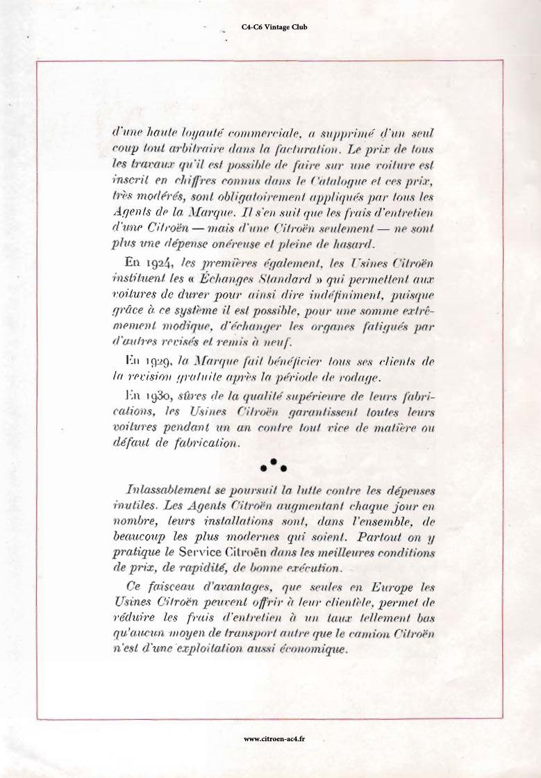 Réclame CAMIONS CITROËN Février 1931 1730