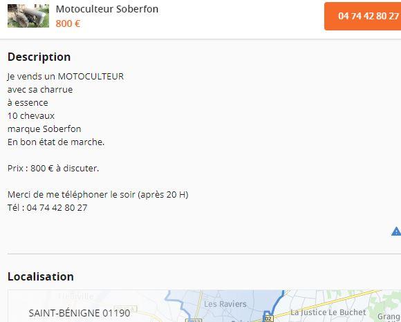 energic - Motoculteur SOBERFON 107 B +Tracteur ENERGIC 511 à vendre 1_358
