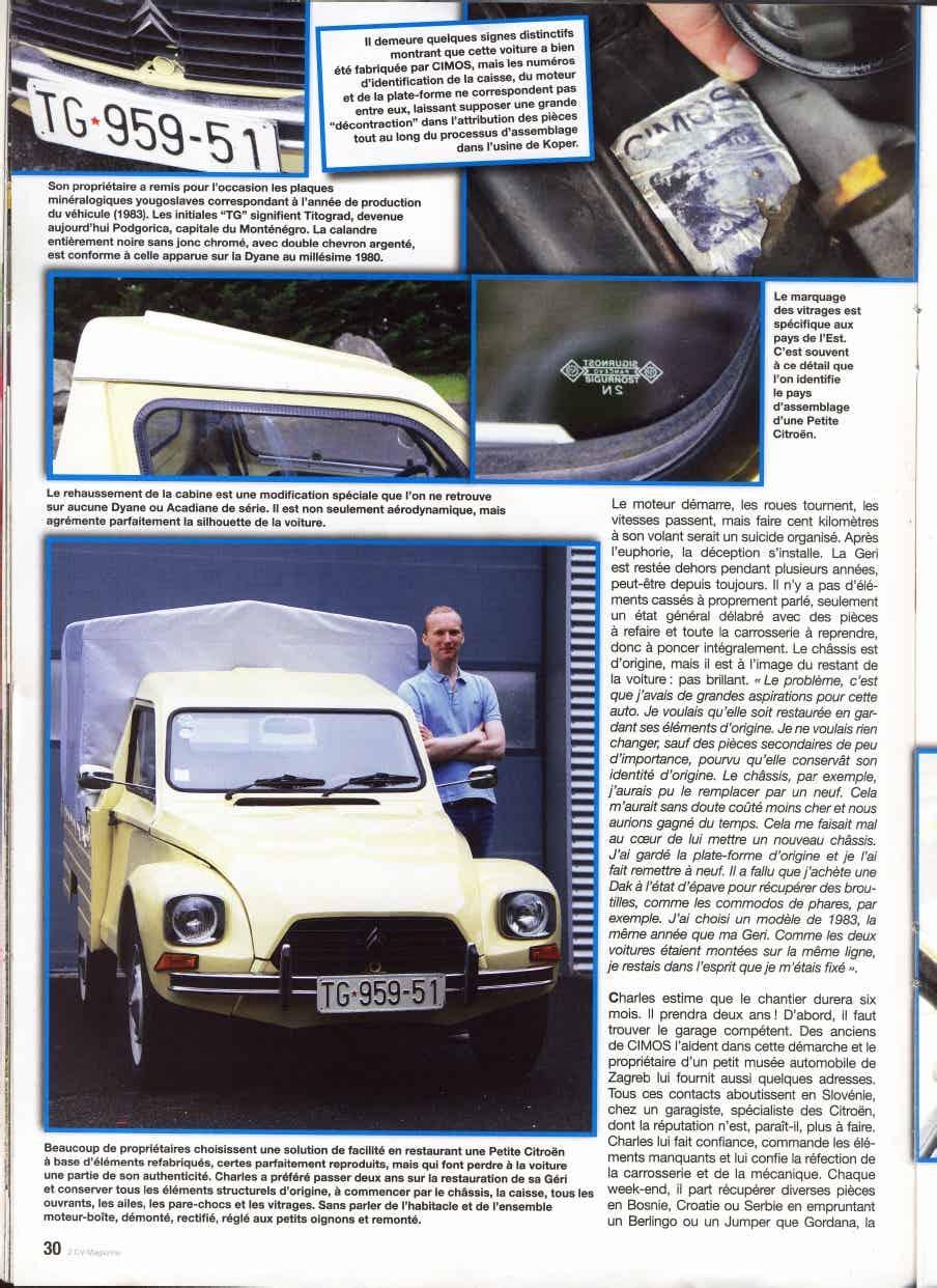 CIMOS GERI: une Dyane Pick-up de Slovénie 1_913