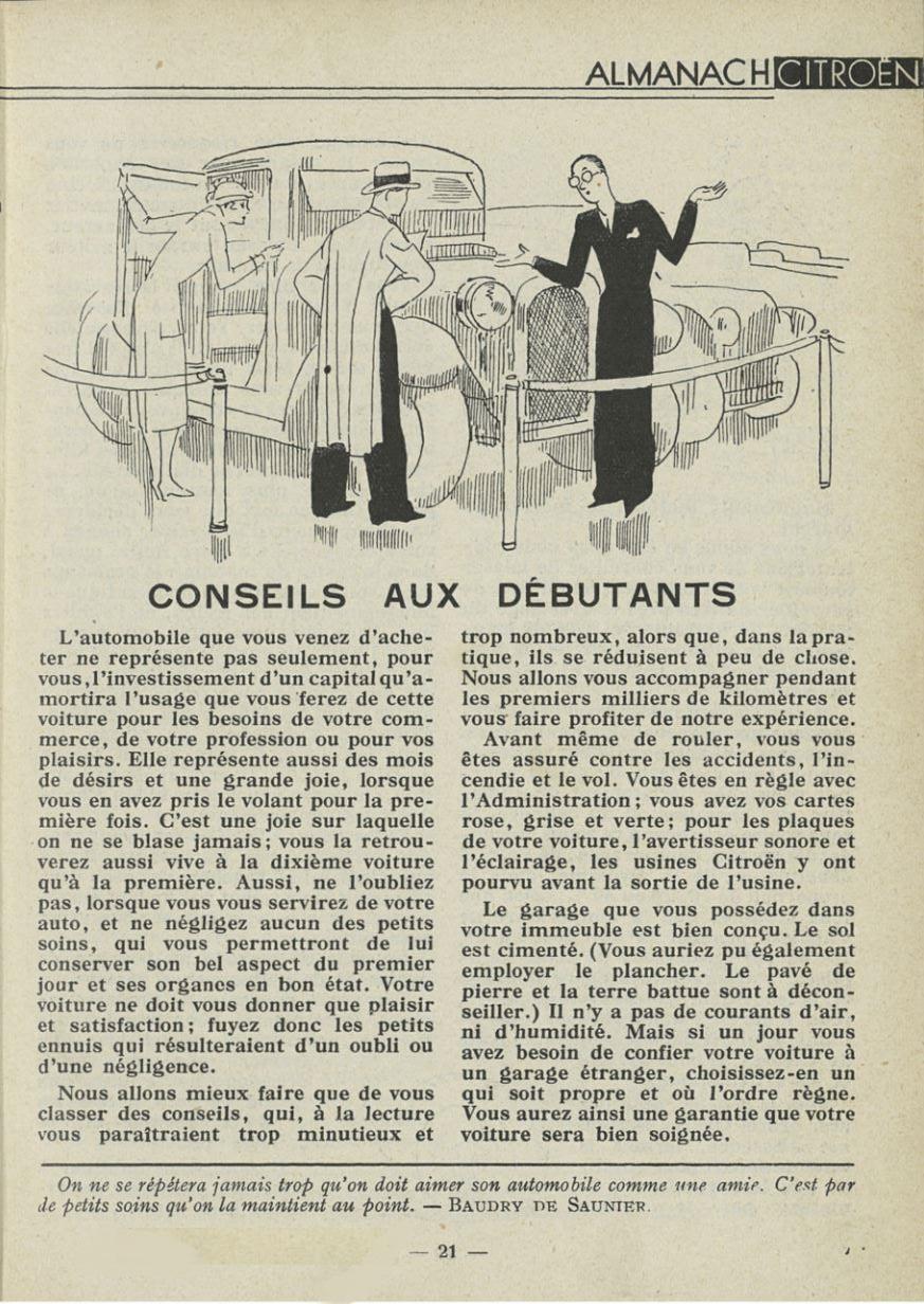 ALMANACH  CITROËN 1932 21211