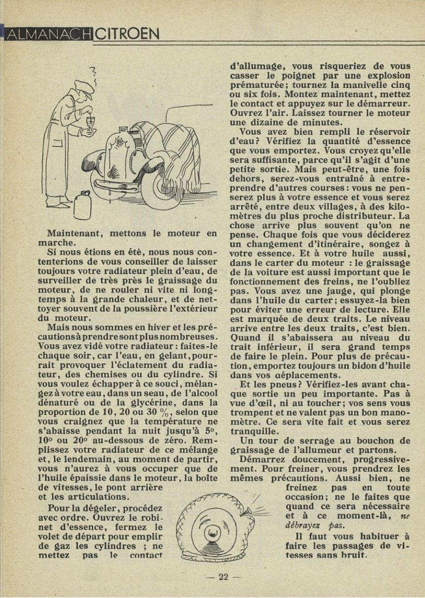 ALMANACH  CITROËN 1932 22170