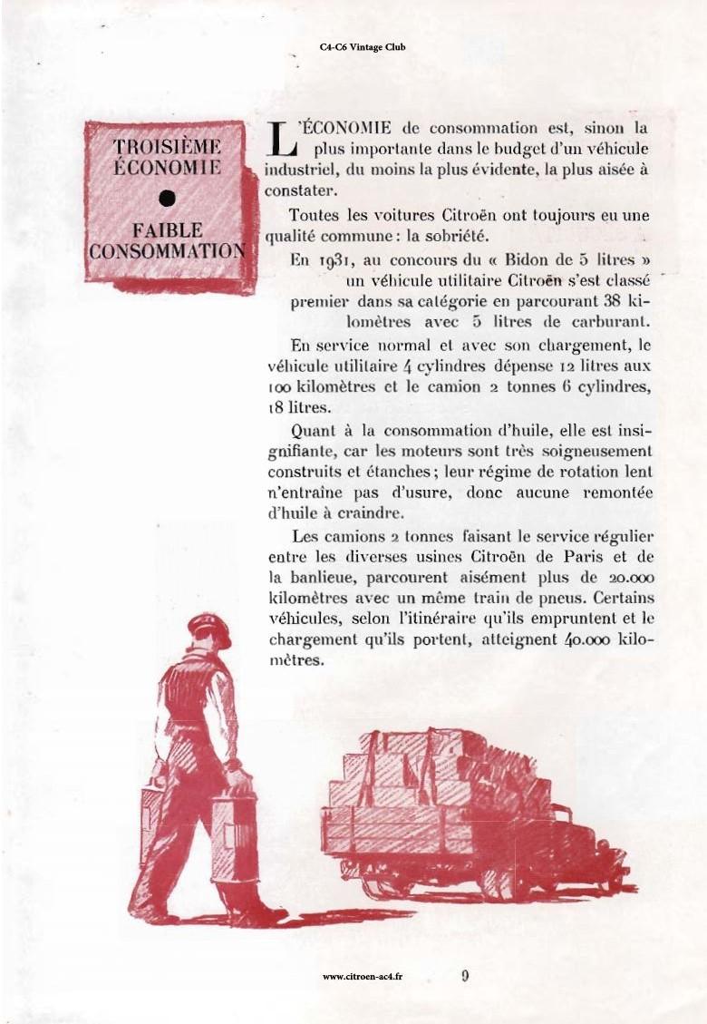 Réclame CAMIONS CITROËN Février 1931 2220