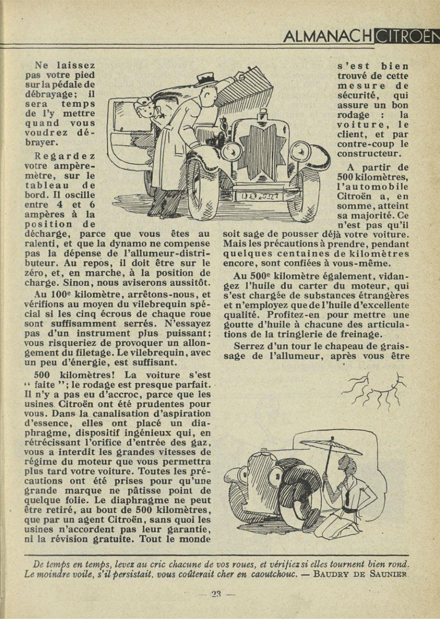 ALMANACH  CITROËN 1932 23140