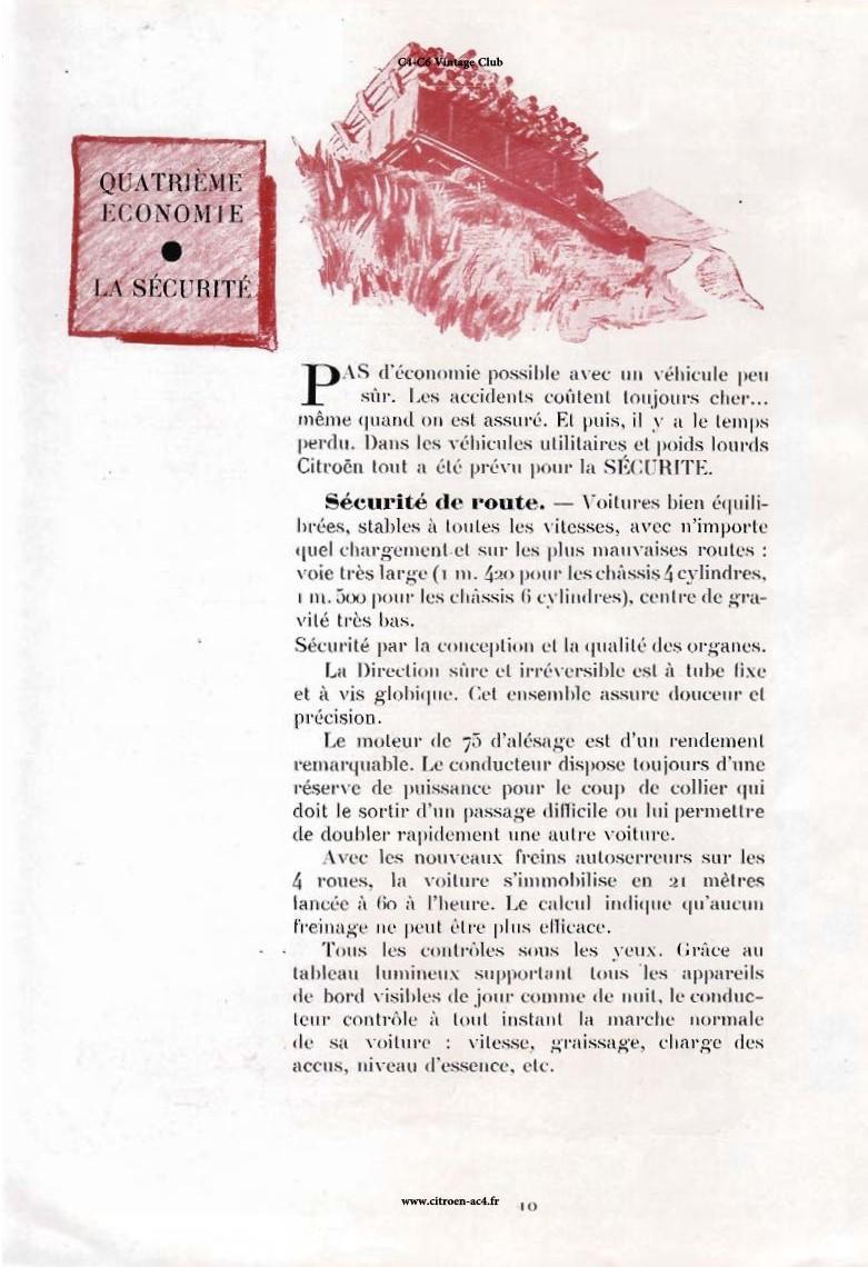 Réclame CAMIONS CITROËN Février 1931 2316