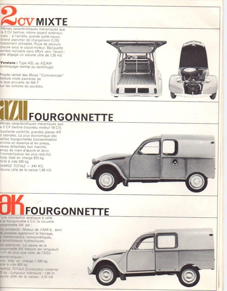 Brochure publicitaire de la gamme des utilitaires de 1965 2363