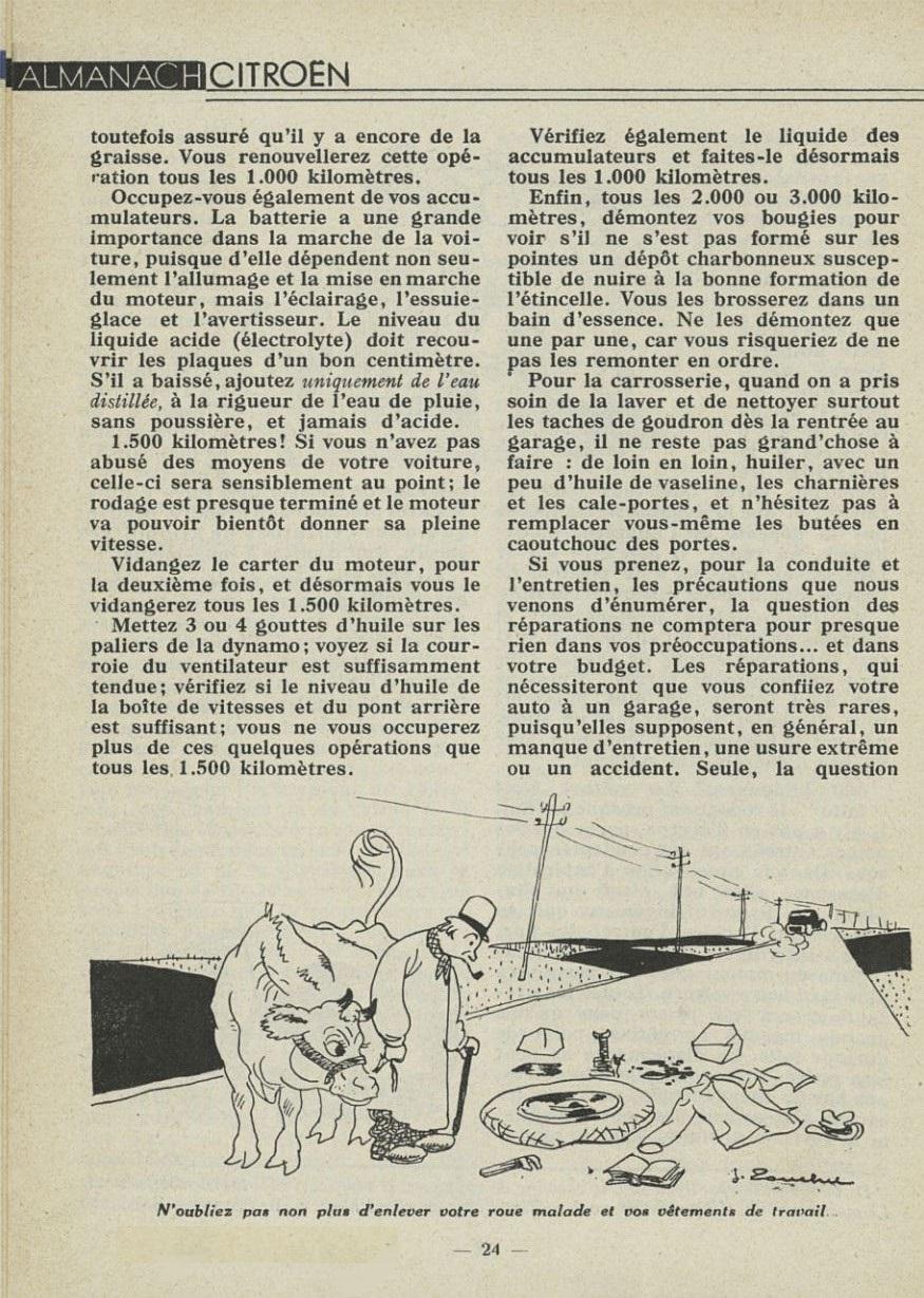 ALMANACH  CITROËN 1932 24127