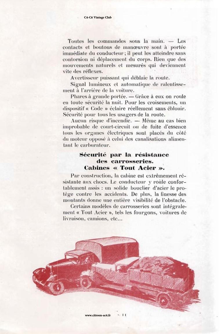 Réclame CAMIONS CITROËN Février 1931 2417