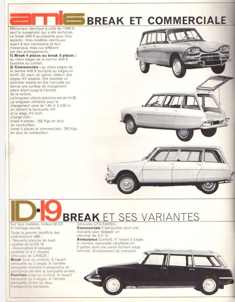 Brochure publicitaire de la gamme des utilitaires de 1965 2455