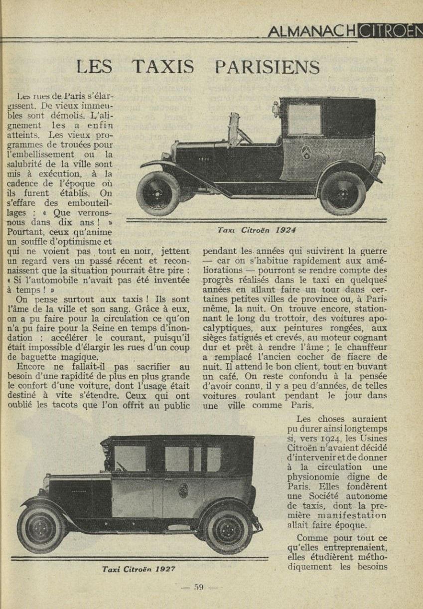 ALMANACH  CITROËN 1932 25119