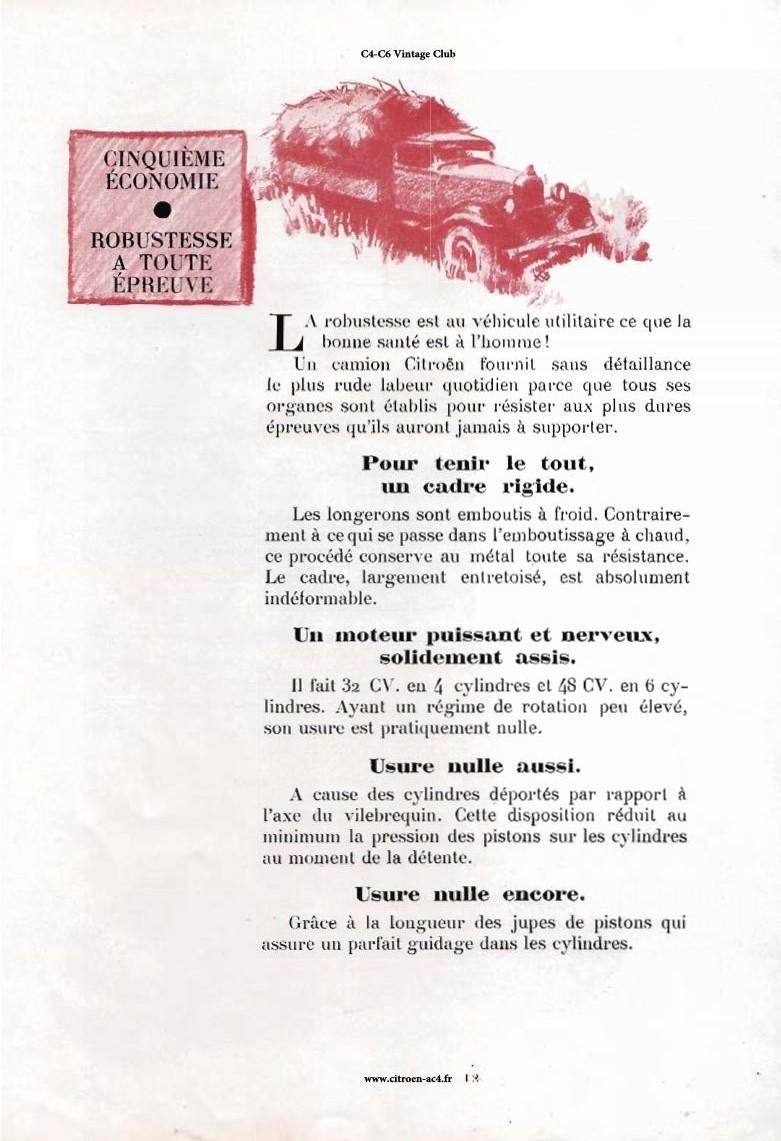 Réclame CAMIONS CITROËN Février 1931 2513