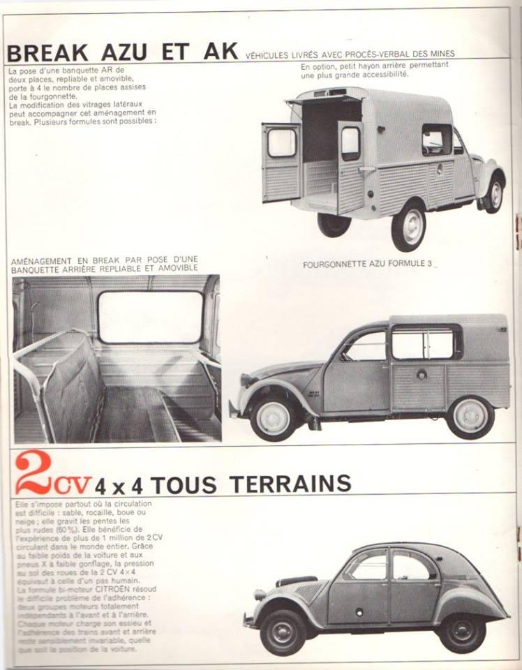 Brochure publicitaire de la gamme des utilitaires de 1965 2549