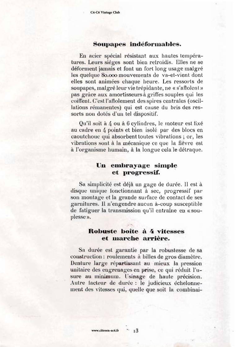 Réclame CAMIONS CITROËN Février 1931 2612