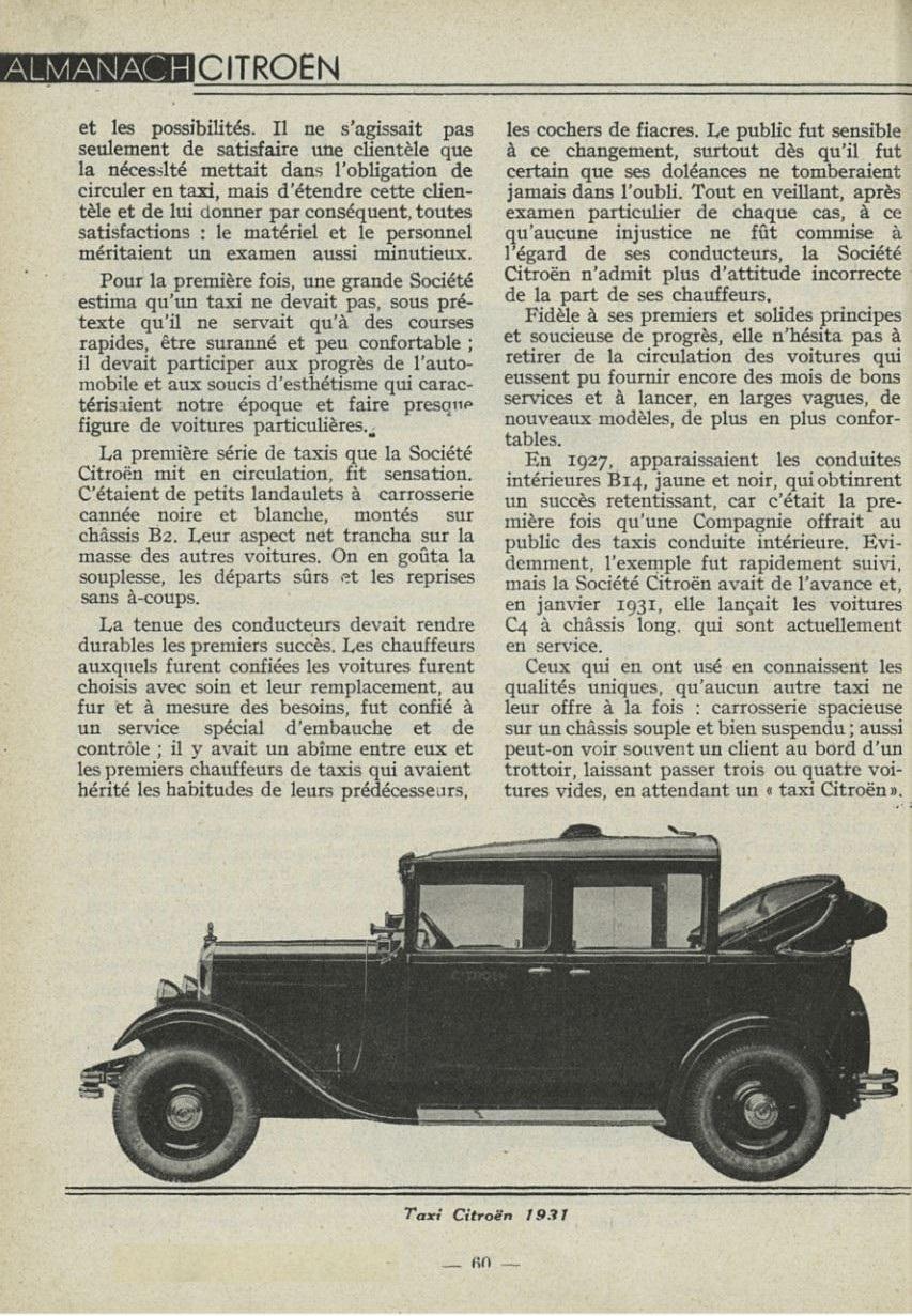 ALMANACH  CITROËN 1932 26123