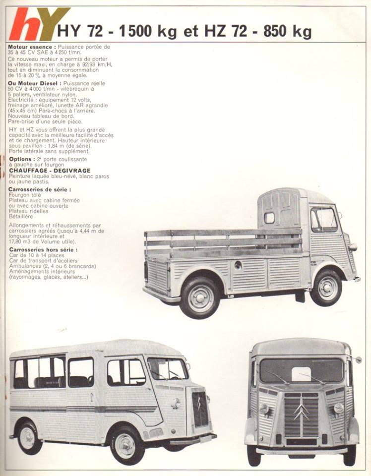 Brochure publicitaire de la gamme des utilitaires de 1965 2649