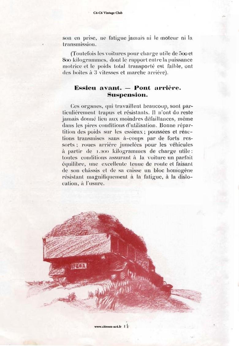 Réclame CAMIONS CITROËN Février 1931 2712