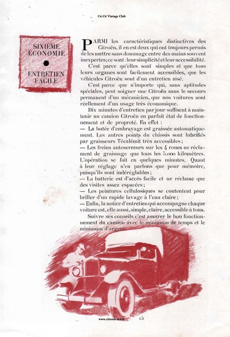 Réclame CAMIONS CITROËN Février 1931 2812