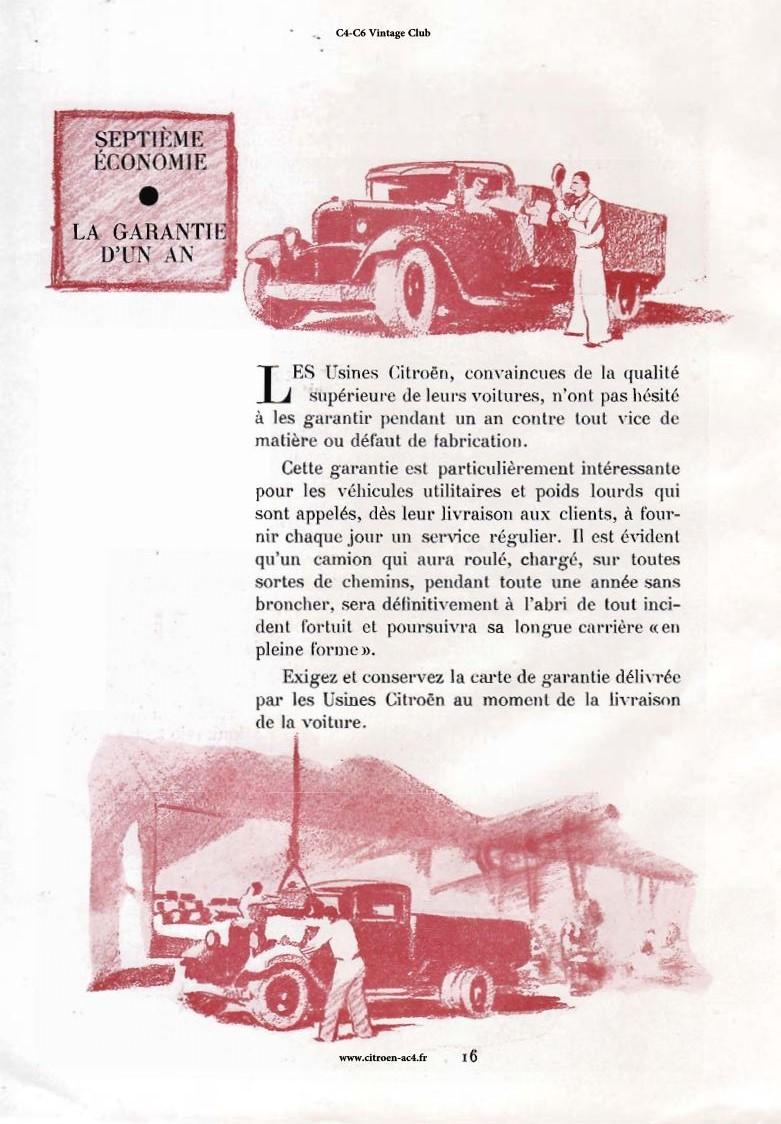 Réclame CAMIONS CITROËN Février 1931 2911