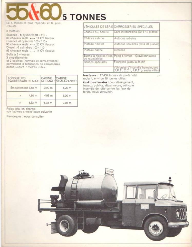 Brochure publicitaire de la gamme des utilitaires de 1965 2933