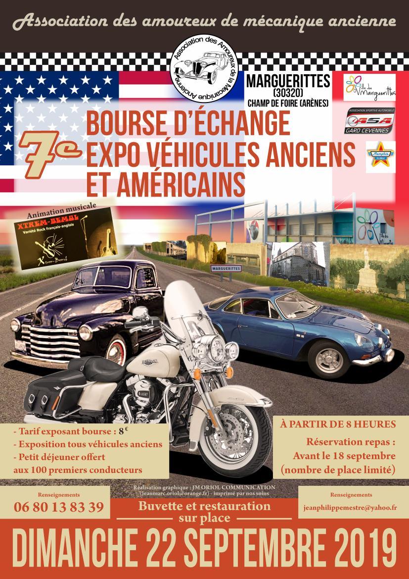 30 - Marguerittes  : rassemblement de véhicules anciens le 22 sept 2019 2_920