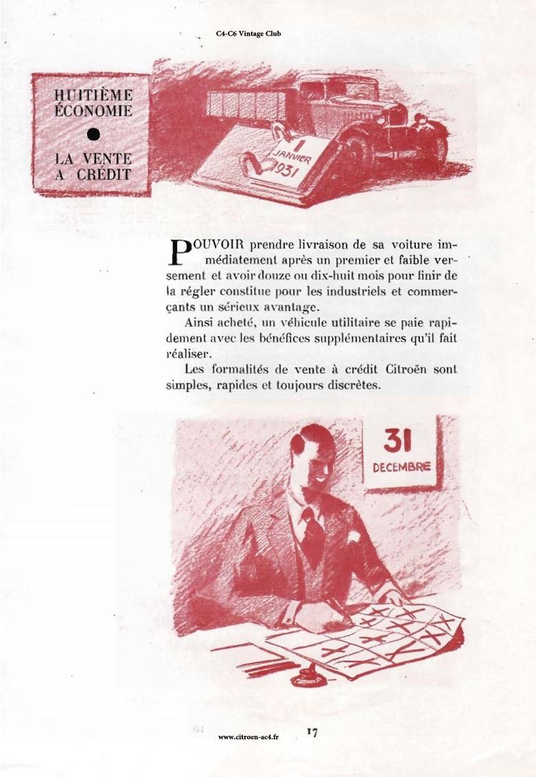 Réclame CAMIONS CITROËN Février 1931 3010