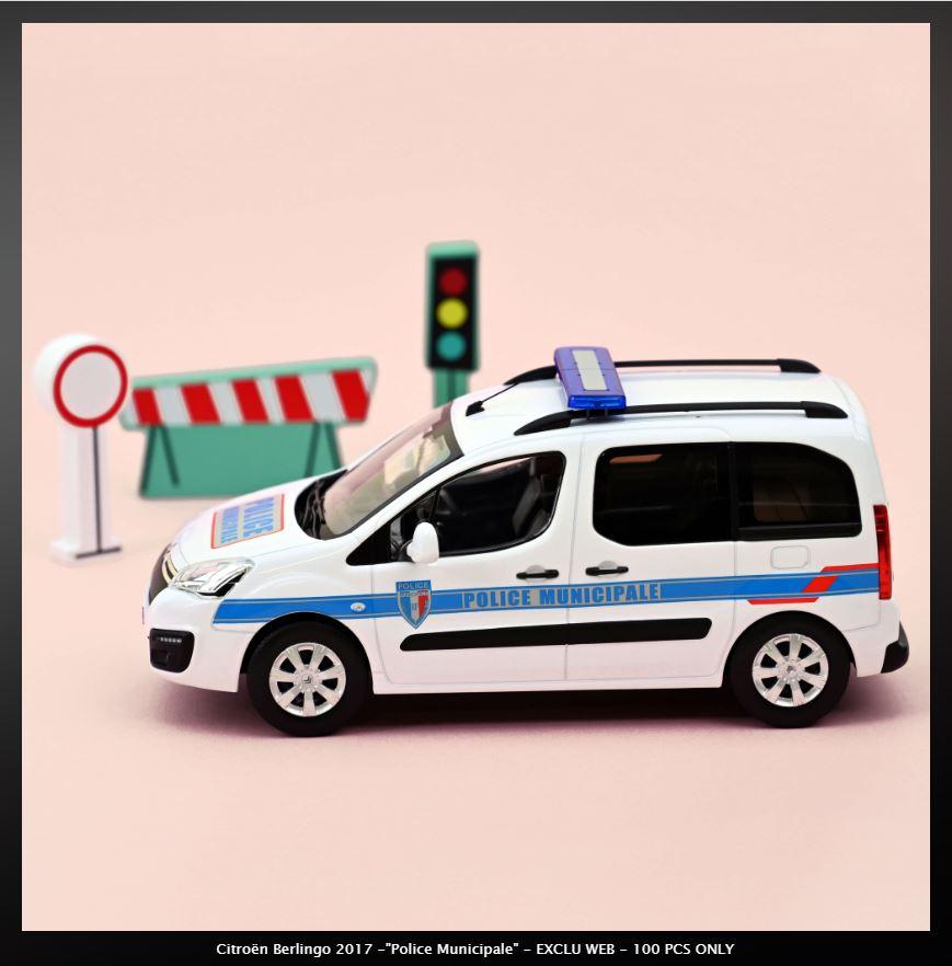 NOREV Nouveauté au 1/18 : BERLINGO 2017 POLICE MUNICIPALE 3069