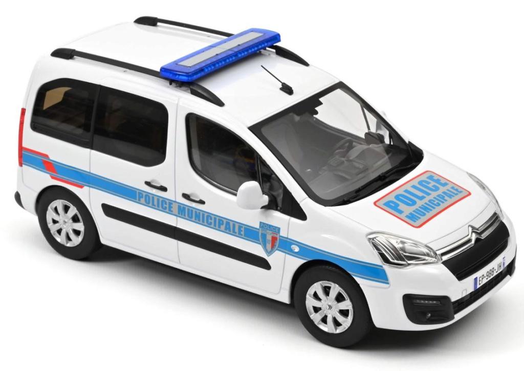 NOREV Nouveauté au 1/18 : BERLINGO 2017 POLICE MUNICIPALE 31147