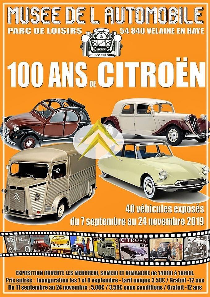 Le Centenaire CITROËN au Musée de VELAINE EN HAYE ( 54840) 3479