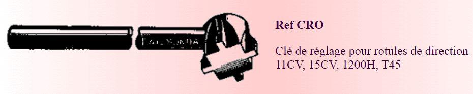 recherche clé pour tige de chenille u23 4445