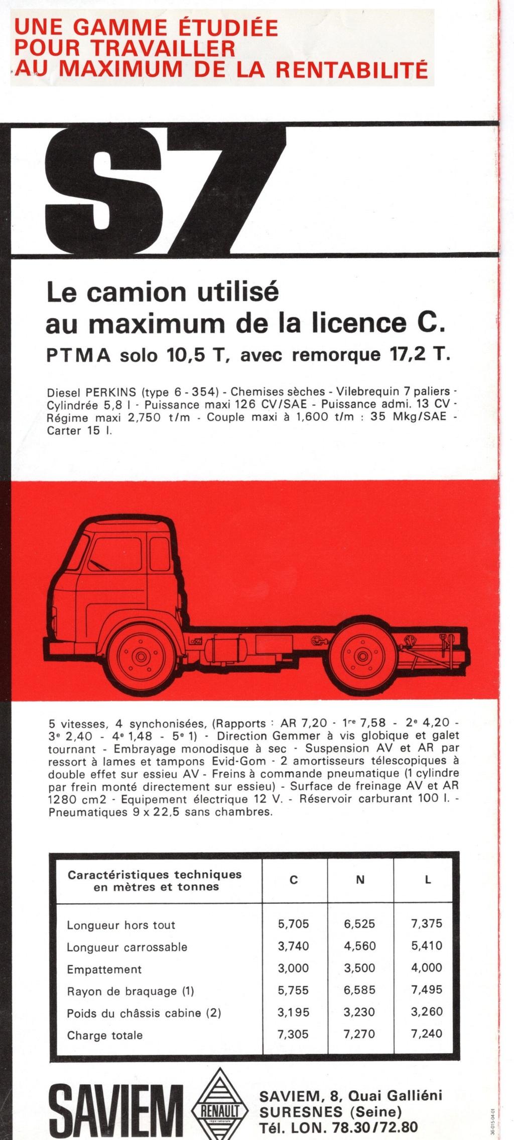Pub et catalogues SAVIEM 7427