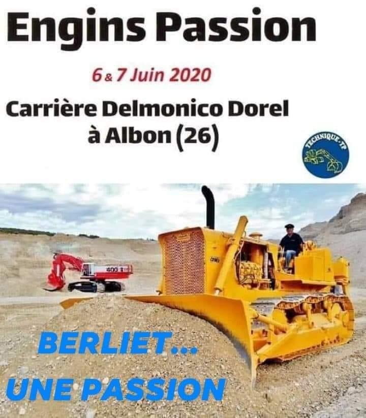ENGINS PASSION 6 et 7 Juin 2020 à ALBON (26) 83620710