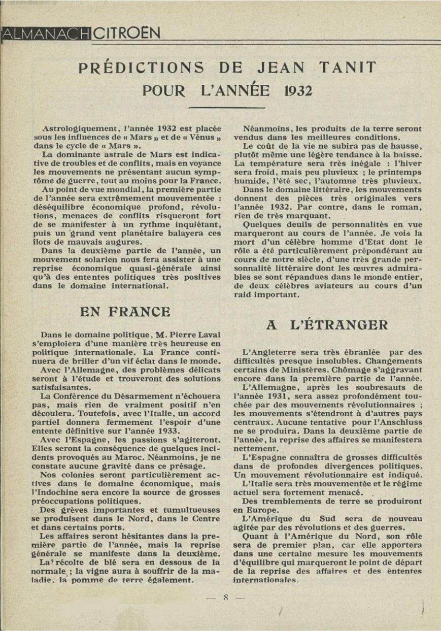 ALMANACH  CITROËN 1932 8408