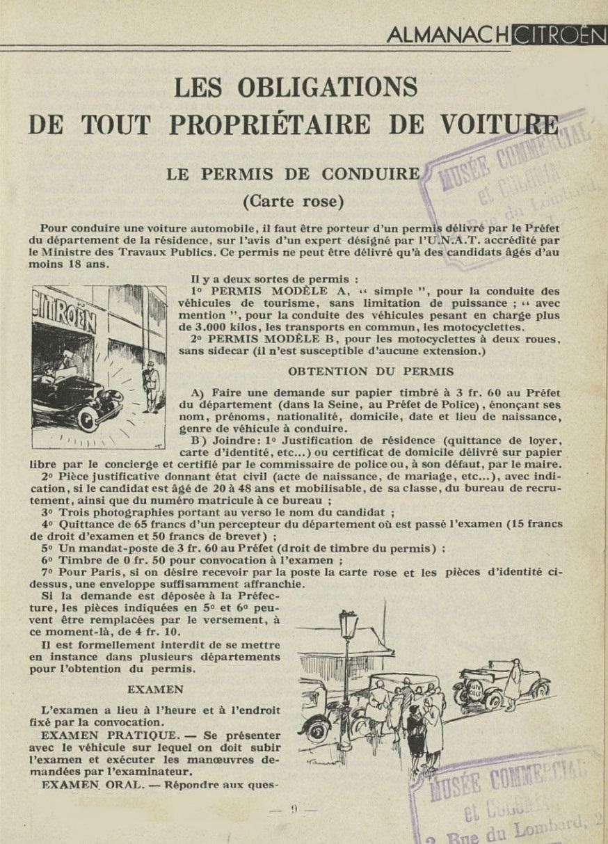 ALMANACH  CITROËN 1932 9364