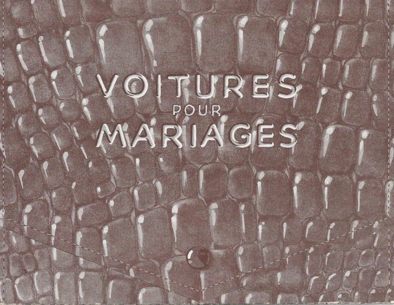 """Pochette """"VOITURES pour MARIAGES"""" Voitur10"""