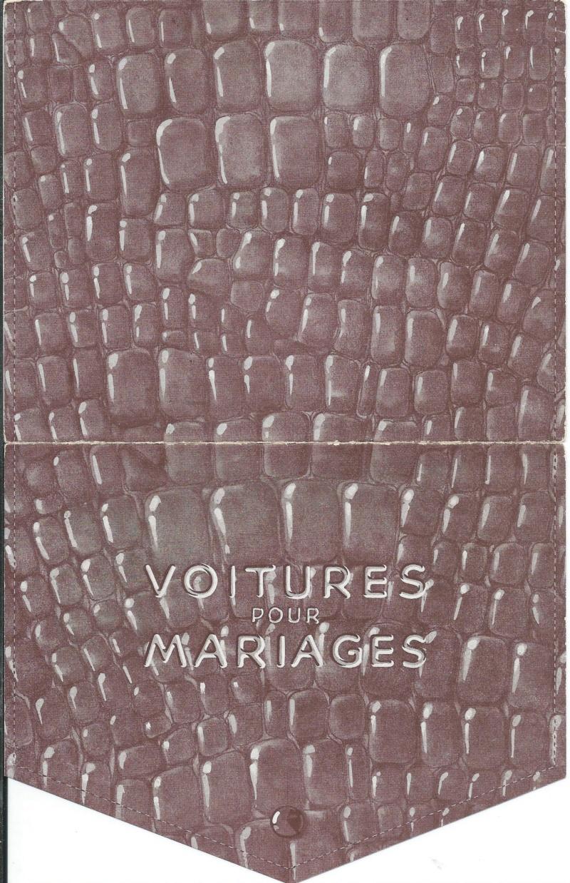 """Pochette """"VOITURES pour MARIAGES"""" Voitur12"""